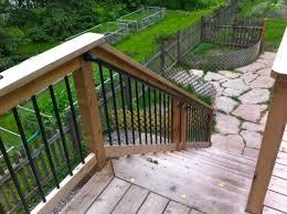stair handrail options decks u0026 fencing contractor talk