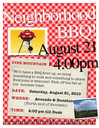 neighborhood bbq saturday august 21 4 p m friends of fire
