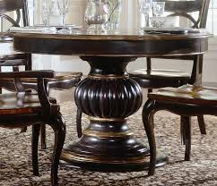 decoration ideas dining room furniture interior artistic comely dark brown polished edge wooden round pedestal standing dining table for your