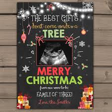 christmas pregnancy announcement chalkboard pregnancy