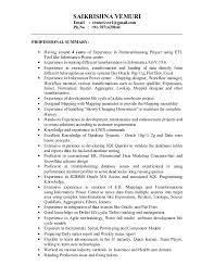 Informatica Sample Resume by Saikrishna Vemuri Informatica Developer Profile