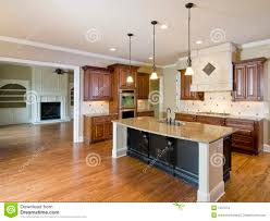 luxury home interior kitchen and living room stock images image