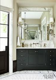 shades bathroom furniture marble framed mirror sink console back marble splash door