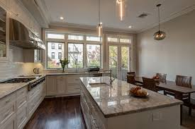 appealing wooden and top granite kitchen designer chicago with