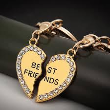 fashion key rings images Hot sale key chain friendship keychain best friend crystal keyring jpg