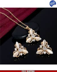 fashion necklace sets images Fashion wedding jewelry sets austrian crystal necklace earrings
