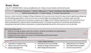 Resumes For Management Positions Listing Core Competencies On A Resume Examples Included Zipjob