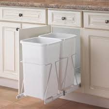 Kitchen Trash Cabinet Pull Out Real Solutions For Real Life 19 In H X 11 In W 23 In D Steel