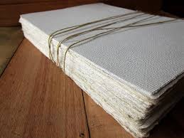 white handmade paper sheets recycled paper bookbinding paper eco