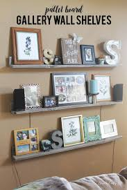 Pallet Floating Shelves by Gallery Wall Shelves Wall Shelving Gallery Wall And Shelving