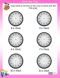 time u2013 grade 1 math worksheets