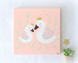 tableau chambre bébé fille decoration cygnes pour bébé fille tableau cygne pour chambre