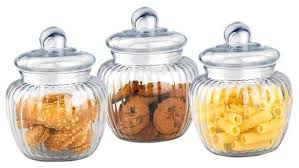 kitchen canisters and jars glass canisters set of 3 modern kitchen canisters and jars