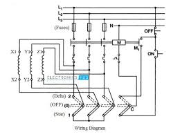 star delta starter control wiring diagram with explanation the