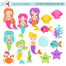 cartoon mermaid clipart clip art library