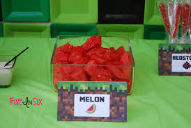 Minecraft Party Centerpieces by Minecraft Party Decoration Ideas And Downloadable Printables