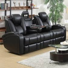 Sofa Reclining Coaster Delange Reclining Power Sofa With Adjustable Headrests