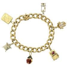 cartier bracelet charm images Cartier 18k gold french retro loaded charm bracelet c 1950 39 s jpg