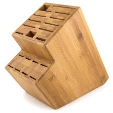 kitchen knives block megalowmart 18 slot bamboo wood kitchen knife block