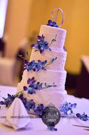 wedding cake blue purple orchid wedding pinterest wedding