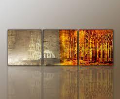 Modern Art Wohnzimmer 3 Teiliges Wandbild Abstrakt Köln Cologne Modern Stylisch