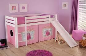 chambre en pin massif pas cher lit mezzanine enfant avec toboggan en pin massif blanc laqué magic