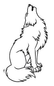 easy outlines of animals wolf outline to be zentangled art class pinterest outlines