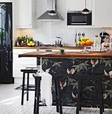 comptoir de la cuisine inspirations le papier peint pour relooker une cuisine