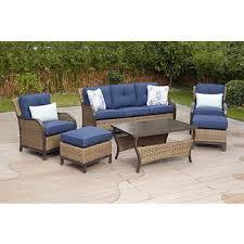 Jensen Outdoor Furniture Berkley Jensen Nantucket 6 Pc Wicker Deep Seating Set Spectrum