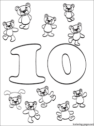 preschool coloring pages with numbers number 10 ten coloring page coloring pages