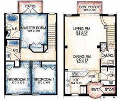 Modern Town House Two Story House Plans Three Bedrooms Houseplan Small Town Home Plans