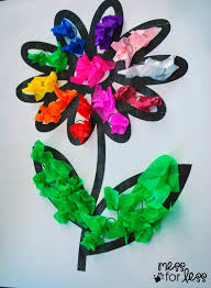 8 terrific tissue paper crafts for kids art activities flower