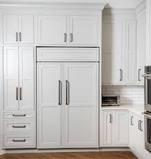 plain wood kitchen cabinet doors how to hide your refrigerator in plain sight with appliance
