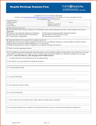 How To Make A Hospital Discharge Paper - hospital discharge papers sponsorship letter