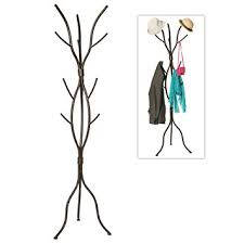 buy black entryway hall tree with mirror coat hooks and storage