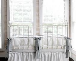 grey crib bumper etsy
