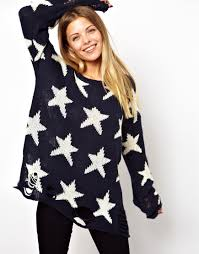wildfox seeing sweater in blue lyst
