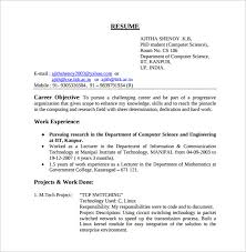 Resume Computer Science Examples by Resume Format For Fresher Lecturer In Computer Science