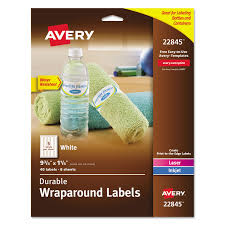 durable water resistant wraparound printer labels by avery