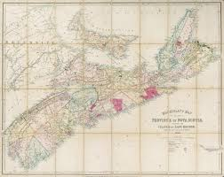 Map Of Nova Scotia Nova Scotia Mackinlay U0027s Map Of The Province Of Nova Scotia