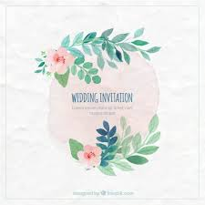 wedding invitations freepik painted wedding invitation vector free