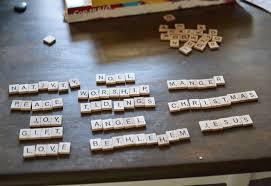 diy scrabble letter ornaments
