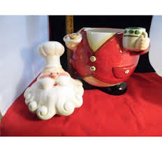 home interior porcelain figurines santa claus cookie jar by home interior 11