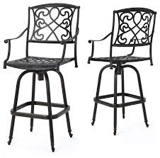 gdfstudio paris copper finish cast aluminum swivel bar stools