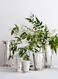 silver julep cup vases solid brass floral arrangement and cups