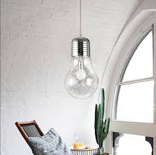 Large Pendant Lights For Kitchen by Modern Creative Large Bulb Pendant Lights Glass Bubble Drop Light