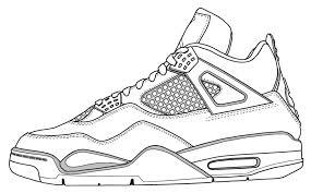 jordan 4 coloring michael jordan shoes coloring pages mens