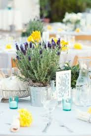 Potted Plants Wedding Centerpieces by Tuscany Italy Wedding From Studio Impressions Photography