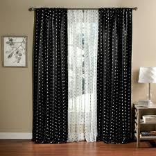 White Polka Dot Sheer Curtains Polka Dots Blackout Curtain Panel Set Of 2 Walmart