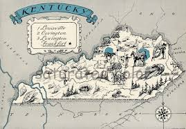 kentucky map original kentucky map 1931 vintage picture map antique